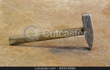 old hammer stock photo, old hammer in rusty back by prill