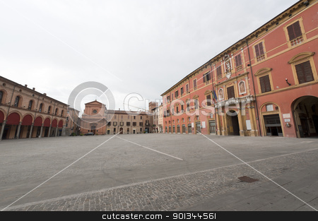 Imola (Bologna, Emilia-Romagna, Italy) - Main square of the city stock photo, Imola (Bologna, Emilia-Romagna, Italy) - Main square of the city by clodio