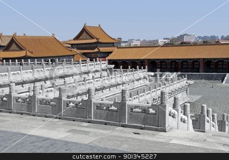 Forbidden City in Beijing stock photo, buildings at the Forbidden City in Beijing (China) by prill