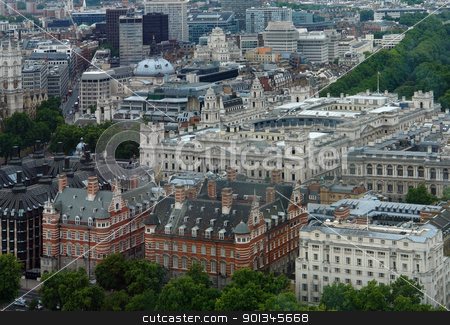 aerial view of London stock photo, aerial view of London at summer time by prill
