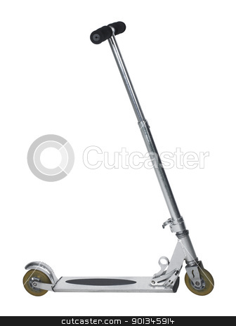 kick scooter stock photo, kick scooter isolated on white with clipping path by prill