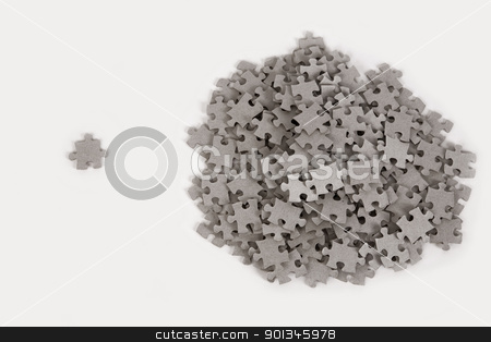 Jigsaw puzzle, success in business concept stock photo, Jigsaw puzzle, success in business concept on white background by Victor Oancea