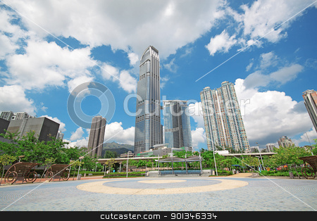 modern office building  stock photo, modern office building  by Keng po Leung