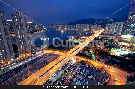 urban city night stock photo, urban city night by Keng po Leung