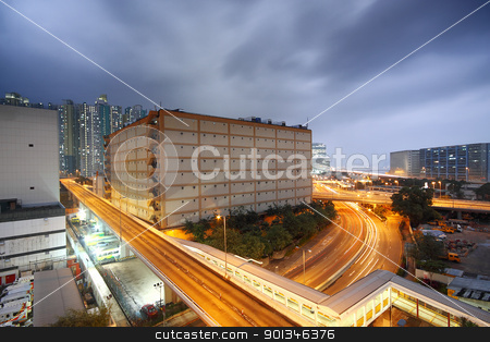 city in the storm weather stock photo, city in the storm weather by Keng po Leung