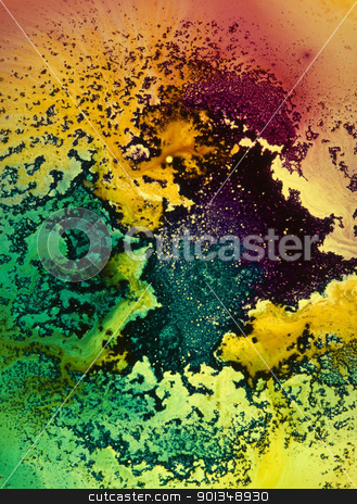 multicolored rough back stock photo, abstract background with translucent intense color pattern over transmitted light by prill