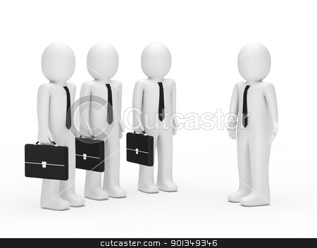 leader show business man the way stock photo, 3d leader show business man the way by d3images