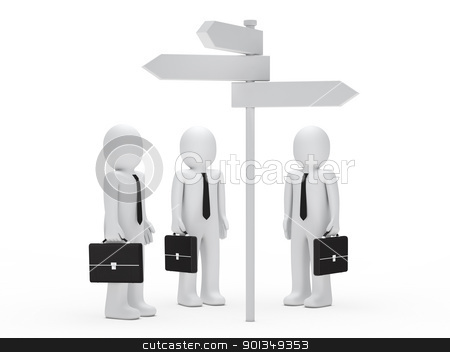business man team  before choice stock photo, 3d business man team  before choice by d3images