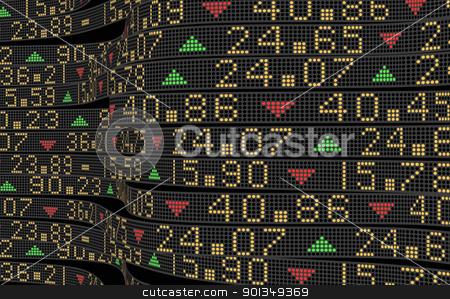 Stock market tickers  stock photo, Stock market tickers sliding on trading boards by Daniela Mangiuca