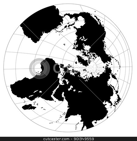 Globe Antarctic View stock photo, Globe Antarctic View - colored illustration by derocz