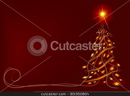 Abstract Christmas Tree stock photo, Abstract Christmas Tree - colored abstract illustration by derocz