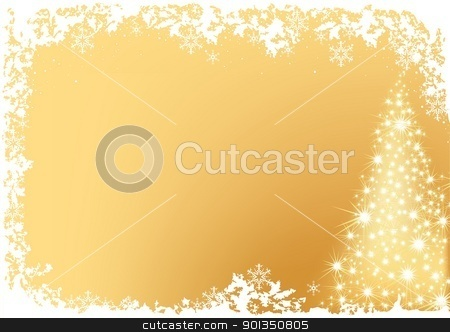 Glowing Christmas Tree stock photo, Glowing Christmas Tree - colored abstract illustration by derocz