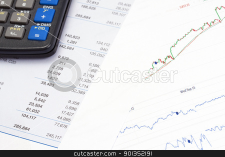 Financial data stock photo, Analyzing financial data by Ingvar Bjork