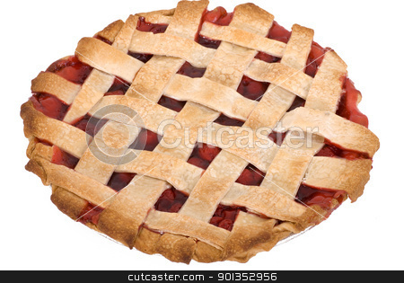 Cherry Pie Whole stock photo, A freshly baked, homemade cherry pie by saje