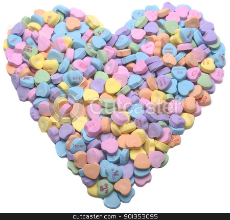 Valentine Heart 2 stock photo, Colorful valentine heart made up of smaller hearts by saje