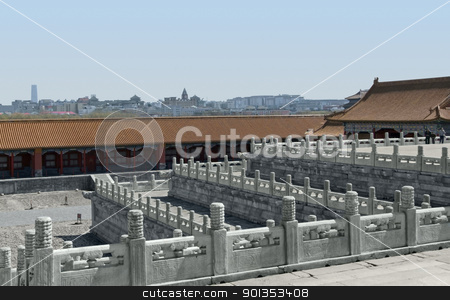 Forbidden City in China stock photo, architectural detail at the Forbidden City in Beijing (China) by prill