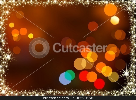 Blurry Christmas Lights stock photo, Blurry Christmas Lights - colored abstract illustration by derocz