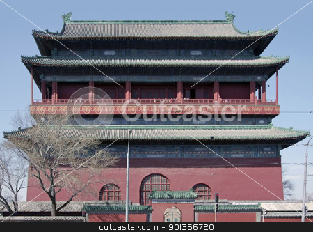 Forbidden City in Beijing stock photo, building of the Forbidden City in Beijing (China). The Forbidden City was the imperial palace from the Ming Dynasty to the end of the Qing Dynasty by prill