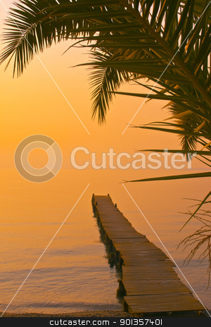 Beautiful beach sunset landscape  stock photo, Beautiful beach sunset landscape  by vician