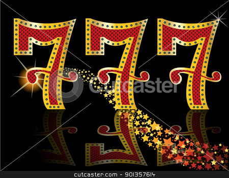 lucky seven slot Machine Jackpot stock vector clipart, lucky seven slot Machine Jackpot by vician