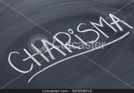 charisma word on blackboard stock photo, charisma word in white chalk handwriting on blackboard by Marek Uliasz