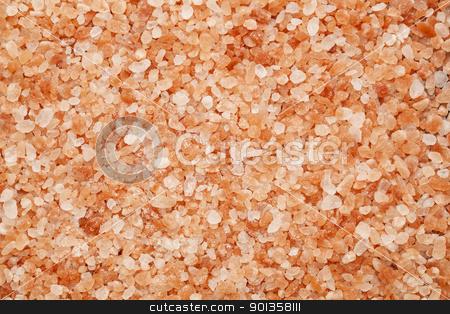 Himalayan salt stock photo, background of Himalayan salt - pink and orange coarse crystals by Marek Uliasz