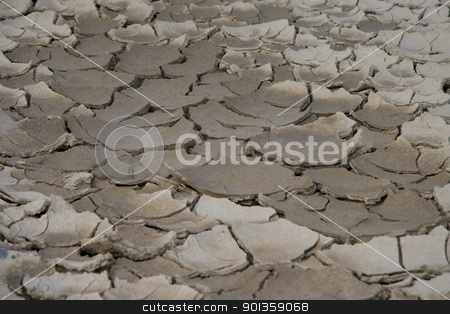 Dry River stock photo, Riverbed after the tortures of summer by 35millimetre