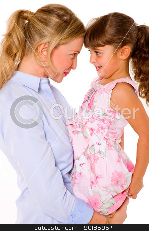 mother and daughter stock photo, mother and daughter by ambrophoto