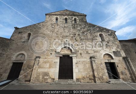 Anagni (Frosinone, Lazio, Italy) - Medieval cathedral, facade stock photo, Anagni (Frosinone, Lazio, Italy) - Medieval cathedral by clodio