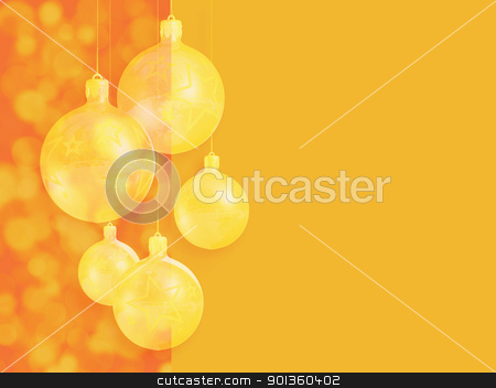 Retro styled christmas decor. stock photo, Retro styled christmas decor, greeting card, with stylized baubles and copy space. by exvivo