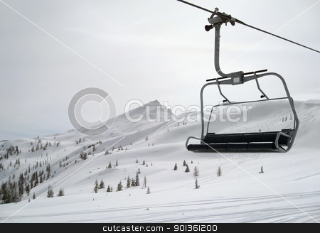 skiing in Wagrain stock photo, Winter scenery in Wagrain (Austria) with ski lift by prill