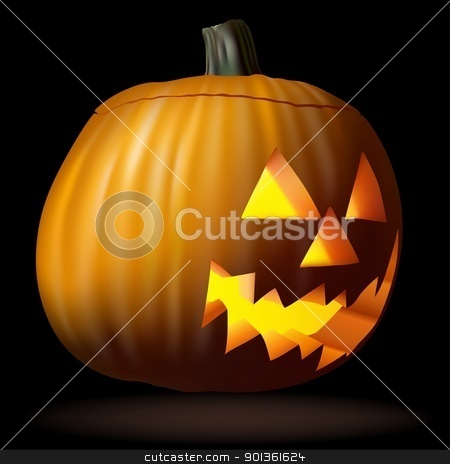 Halloween Pumpkin stock photo, Halloween Pumpkin - colored illustration by derocz