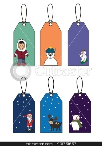 Six New Year's label stock photo, Six New Year's label wallpaper winter by tijana90
