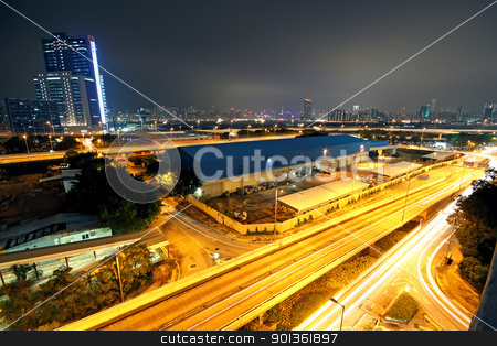urban downtown night, hong kong stock photo, urban downtown night, hong kong by Keng po Leung