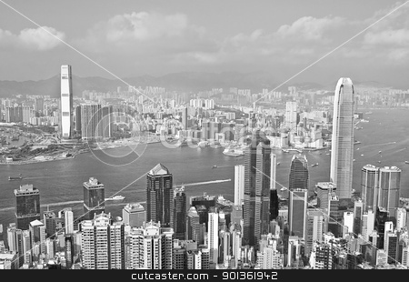 hongkong stock photo, hongkong black and white by Keng po Leung