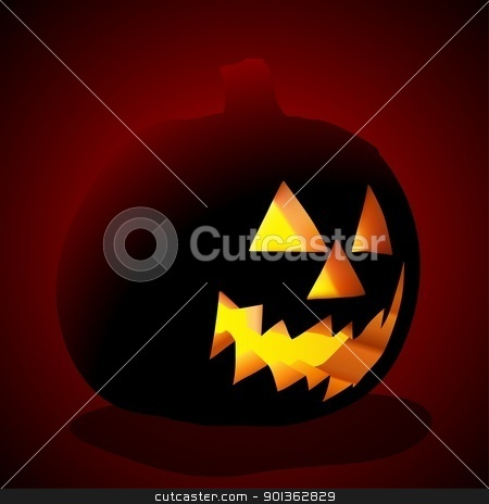 Jack O' Lantern stock photo, Jack O' Lantern - colored illustration by derocz