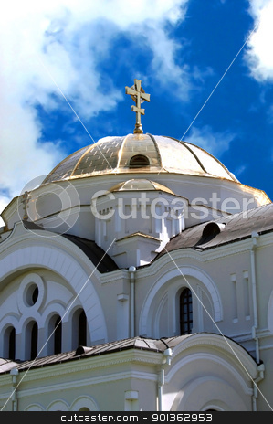 Church stock photo, The dome of the church, located on the territory of the memorial complex in the fortress of the Belorussian city of Brest-hero by Mykola Komarovskyy