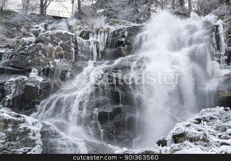 Todtnau Waterfall at winter time stock photo, detail of a waterfall near Todtnau, a town in the Black Forest in Germany at winter time by prill