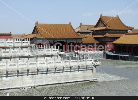Forbidden City in Beijing stock photo, architectural scenery inside the Forbidden City in Beijing (China). The Forbidden City was the imperial palace from the Ming Dynasty to the end of the Qing Dynasty by prill