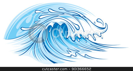 Ocean wave stock vector clipart, Ocean wave by SlipFloat