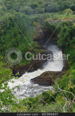 Murchison Falls in Uganda stock photo, high angle detail of the Murchison Falls in Uganda (Africa)  by prill