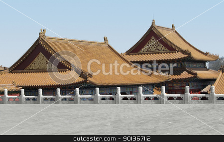 Forbidden City in China stock photo, buildings at the Forbidden City in Beijing (China) by prill