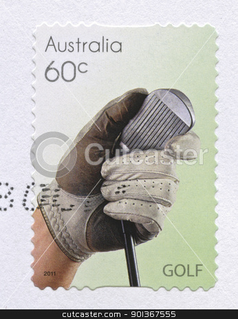 Golf, Sport Stamps stock photo, Golf Sport Stamps printed in Australia by instinia