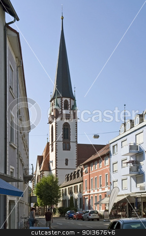 Emmendingen stock photo, city view of Emmendingen, a town in Southern Germany by prill