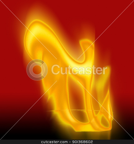 hot flaming lips stock photo, flams agianst red background by Han van Vonno