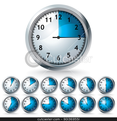 set of vector timers stock vector clipart, set of timers - vector illustration by Ilyes Laszlo