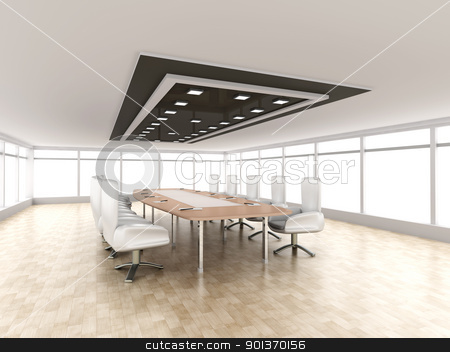 Conference Room stock photo, 3D rendered illustration. by Michael Osterrieder
