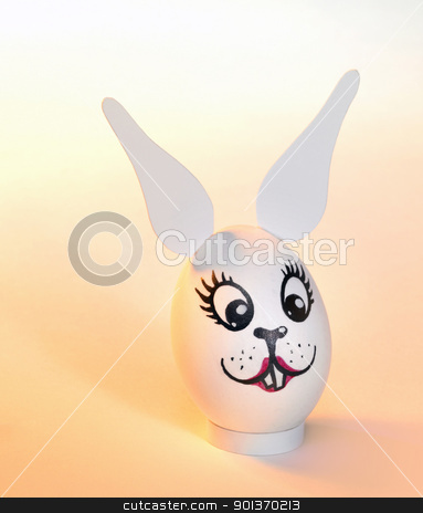 female Easter bunny egg stock photo, 