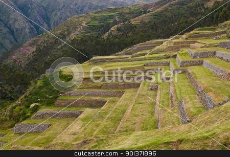 Chinchero , Peru stock photo, Inca ruins in the Sacred valley , Chinchero Peru by Kobby Dagan