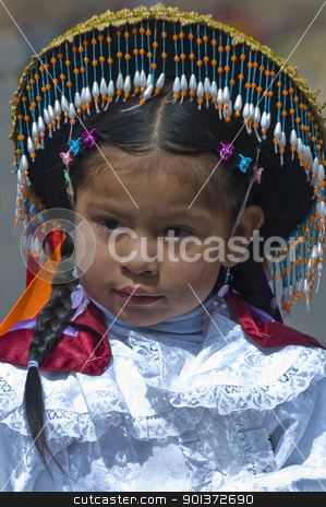 Peru education day stock photo, Cusco , Peru - May 25 : young participant in the